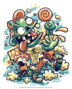 Mommy!!! My candy is stolen by zombie!! on Behance