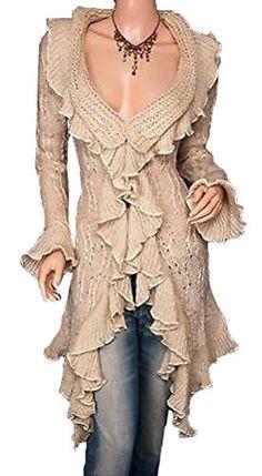 Flounce Ruffles Knit Collared Asym Hem Cardigan Long Sweater Jacket HKJIEVSHOP http://smile.amazon.com/dp/B00N4NXJ08/ref=cm_sw_r_pi_dp_IPLtub1K85KFX