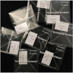 """Katherine Parker business cards ~ The invites to women's Off-White™ runway show. Business Invitation, Invitation Cards, Egg Packaging, Fashion Show Invitation, Fashion Business Cards, Design Research, To Infinity And Beyond, Name Cards, Packaging Design Inspiration"