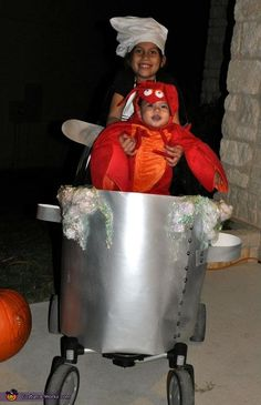 The Cutest Lobster Boil - Stroller Costume Idea