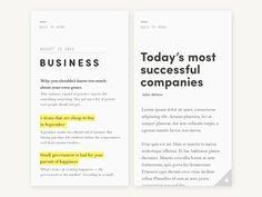 typography / Minimal news feed/reader v.3 / Bilal