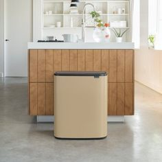 The Brabantia Golden Beach Bo Touch 60 litre recycling bin combines beautiful design with large, practical recycling capacity. Recycling Bins For Home, Diy Recycling, Ocean Cleanup, Platinum Grey, Light Touch, Round Corner, Recycled Materials, Cleaning Wipes, Interior