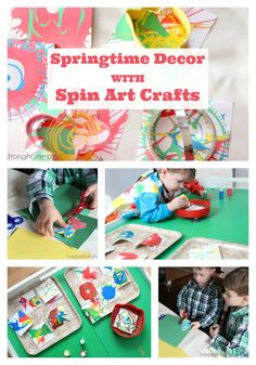 Springtime Decorating for Children with Spin Art Crafts *This kids' panting activity from Melissa & Doug is adorable. What a fun way to celebrate the onset of spring!