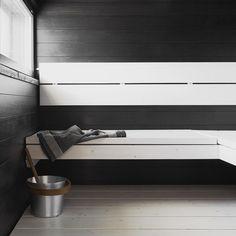 Tämä upea mustavalkoinen sauna löytyy Vantaan Kivistön asuntomessuilta ! Ja ne muuten alkaa huomenna, oletko tulossa? #asuntomessut #tikkurila #tikkurila_suomi #supi