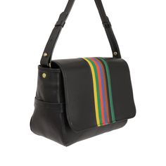 The Flat Clutch in White Veg with Rainbow Stripes is endlessly versatile… Clare Vivier, Messenger Bag, Satchel, Stripes, Shoulder Bag, Flats, My Style, Shopping, Collection