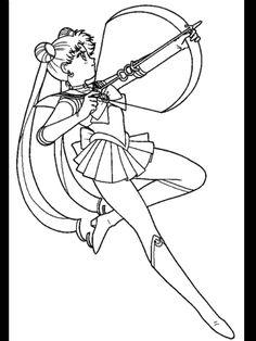 Beautiful Sailor Moon Coloring