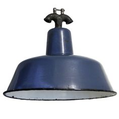 Juta Small   Blue Industrial Lamp(s)