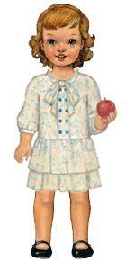 digital apple-picking dress sewing pattern