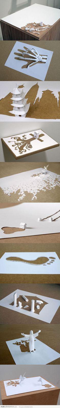 Mind blowing paper art by Peter Callesen