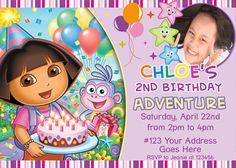 Dora the Explorer 001 Birthday Party Invitation by JJspiffyparty, $7.00