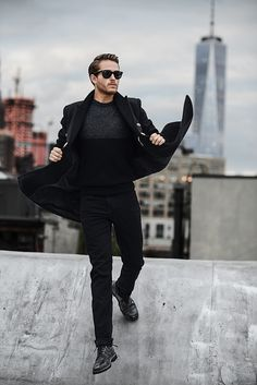 Wicked Winter Style by Adam Gallagher Look Fashion, Mens Fashion, Fashion Outfits, Fashion Wear, Daily Fashion, Sharp Dressed Man, Well Dressed, Steel Boots, Mens Trends