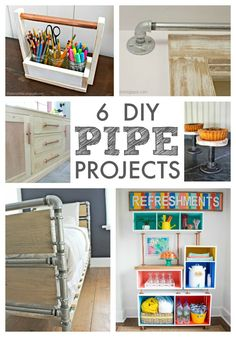 """That's My Letter: """"P"""" is for Pipe Projects Round Up, 6 diy pipe projects"""