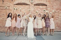 Pretty Pastel Bridesmaid Dresses www.wisteria-avenue.co.uk