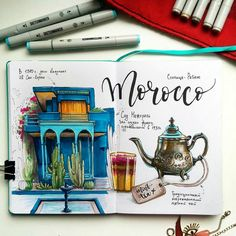 Travel-sketch on Behance Heart Journal, Bullet Journal Art, Bullet Journal Ideas Pages, Bullet Journal Inspiration, Learn Watercolor Painting, Watercolor Journal, Creative Diary, Travel Sketchbook, Travel Album