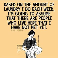 might as well make it cute laundry right? #momlife #truth