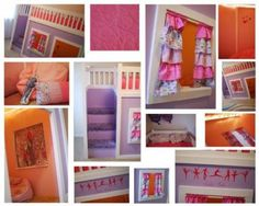 Playhouse Loft Bed with Stairs....http://ana-white.com/2010/09/easy-playhouse-loft-bed-with-storage-stairs