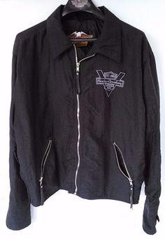 Harley Davidson Nylon / PVC Rain Jacket with Sz. XL Black American Made #HarleyDavidson