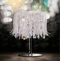 Swarovski crystal table lamps by Schonbek