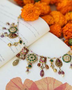 Jewelry Design Earrings, Coral Jewelry, Ruby Jewelry, 18k Gold Jewelry, Bridal Jewelry, Necklace Designs, Antique Jewellery Designs, Fancy Jewellery, Gold Jewellery Design