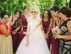 Bride+bridesmaids