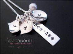 Hand Stamped Jewelry  Personalized Necklace  by BragAboutIt, $68.00