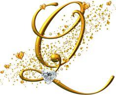 Alfabetos Lindos: Alfabeto letras douradas com brilhante!