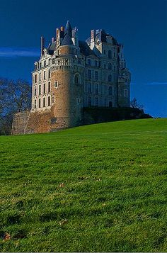 Castle Brissac located in county of Maine-et-Loire in France