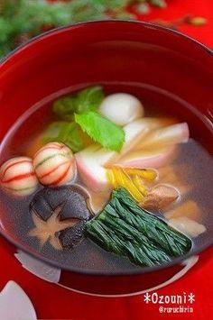 Melba leaves and citrus scent Kagora soup ✿三つ葉と柚子の香りかほる♬お雑煮✿2017