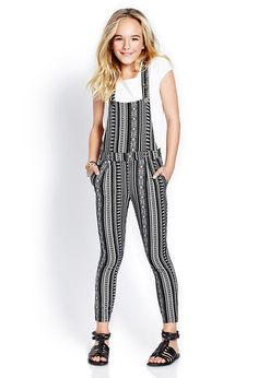 Southwestern Print Overalls (Kids) | FOREVER21 girls #TrendingNow How to rock printed overalls #Juniors #MustHave