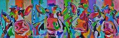 Veelzijdig kleurrijk kunstenares Mir/ Mirthe Kolkman waaronder koeienschilderes. Koe kleurrijke koe koeienkunst kleurrijk kunstwerk koe in de wei hollandse koe gezellige vrolijke koe koeienkop cows from holland cowpainting koeienschilderij koeien schilderen dierenschilderij grappige koeien  dutch cows cowartist grappige koe funny cow happy cows art kunst