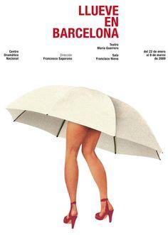 """""""Llueve in Barcelona"""" by Isidro Ferrer"""