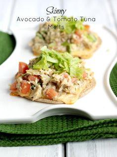 Skinny Avocado & Tomato Tuna Melts - Love with recipe