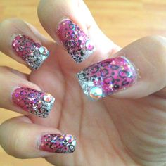 Pink, silver, leopard and some bling ;)