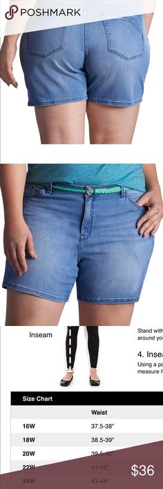 Plus Size LEE Twila Modern Belted Jean Shorts For a cute and casual look, pair these women's Lee jean shorts with your favorite peasant top or blouse.  PRODUCT FEATURES •Stretchy denim construction •Coordinating belt •5-pocket FIT & SIZING •5-in. inseam •Midrise sits above the hip •Modern fit •Zipper fly FABRIC & CARE •Cotton, rayon, polyester, spandex •Machine wash •Imported Lee Shorts Jean Shorts