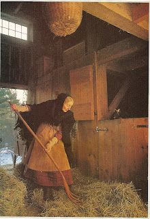 Tasha Tudor. I don't know how she managed to do all the chores in long dresses. I tried it-- they get dirty and snag on everything.