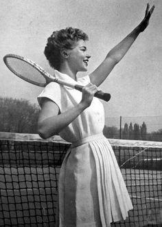 Tennis fashion for Vogue Paris, 1952.