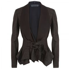 Donna Karan Belted faux lether jacket 9ae5a764239