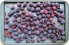 freezing fresh cherries