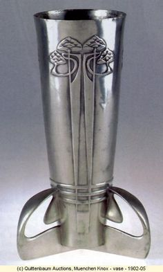 Vase 1902-05 by Archibald Knox (UK).  There were few Art Nouveau artists in the UK. Archibald Knox is one of the most well known.