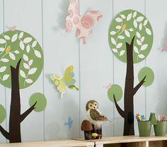 Play Room Needs : Sixty-Fifth Avenue: Pottery Barn Kids Playroom Remake @ jblueyegrrl Kids Wall Murals, Kids Wall Decor, Art Wall Kids, Wall Art Decor, Playroom Decor, Tree Decals, Wall Decals, Wall Sticker, Pottery Barn Kids