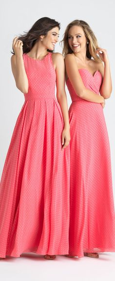 Pink, chic, playful swiss dotted fabric. The perfect dresses for your bridesmaids