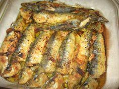 Sardines Au Four, Garlic Butter Sauce, Portuguese Recipes, Portuguese Food, Pasta, Fish And Seafood, Fish Recipes, Carne, Pork