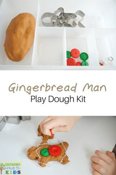 Gingerbread man play dough kit, perfect for quiet time or a gift for preschoolers. via /growhandsonkids/ Gingerbread man play dough kit, perfect for quiet time or a gift for preschoolers. via /growhandsonkids/ Homemade Christmas Gifts, Homemade Gifts, Christmas Crafts, Christmas Ideas, Xmas, Preschool Christmas, Christmas Activities, Preschool Classroom, Classroom Activities