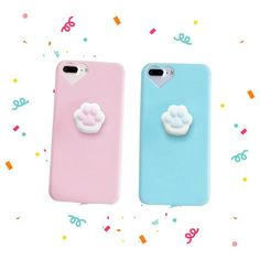 2c6db54be3b Cartoon Cute Squishy Cat Claw Case for iPhone 6 7 Plus Fundas Funny  Pressure Release Soft Squishi Squeeze Cats Phone Cases
