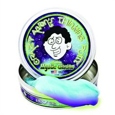 Crazy Aarons Thinking Putty 10cm Large Tin UV Reactive Phantom Mystic Glacier by crazy aarons thinking putty