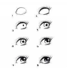 como desenhar um simples olho de anime - Pesquisa Google