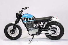 "motographite: YAMAHA SR500 ""D-TRACK"" by JvB vs KEDO"