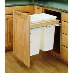 Double Top-Mounting Pull-Out Waste Container-1
