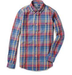 Polo Custom Fit Madras Check Washed Shirt