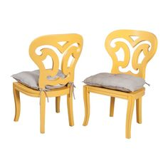 Set of 2 Artifacts Side Chairs In Sunflower Yellow design by Burke Decor Home